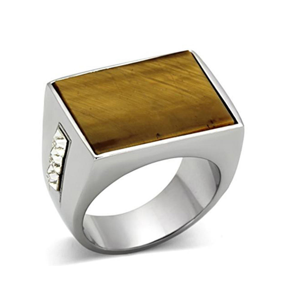 Stainless steel custom men plain wood napkin ring