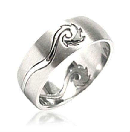 Stainless steel dragon custom engraved chinese zodiac rings