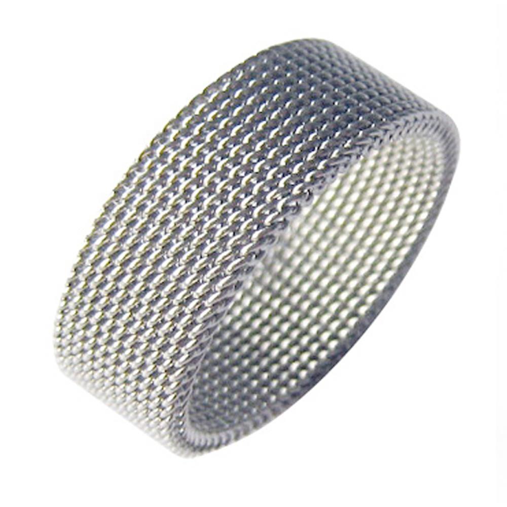 Dressy Braided Design Cheap Men Fine Jewelry Mesh Elastic Ring