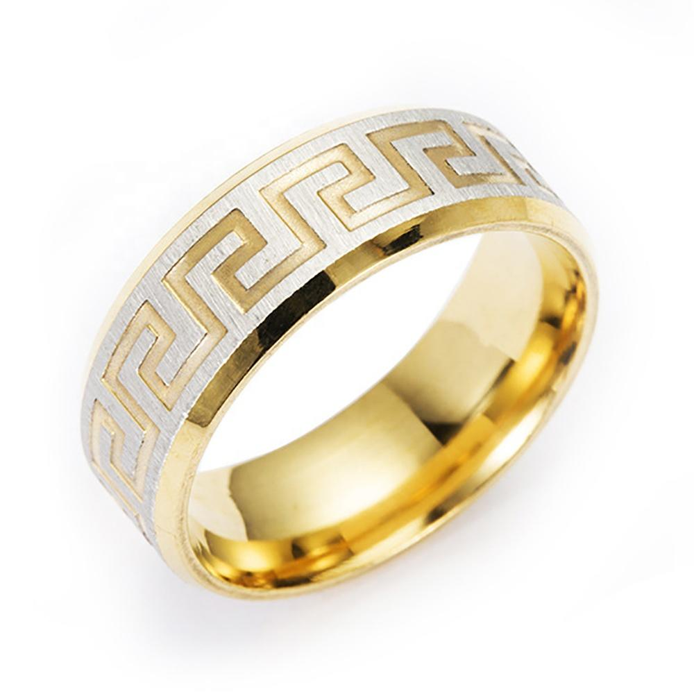 Gold Plating Smooth Shiny Wholesale Moroccan Wedding Rings