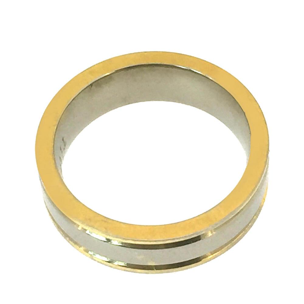Beauty women wear cool yellow real gold 18k ring