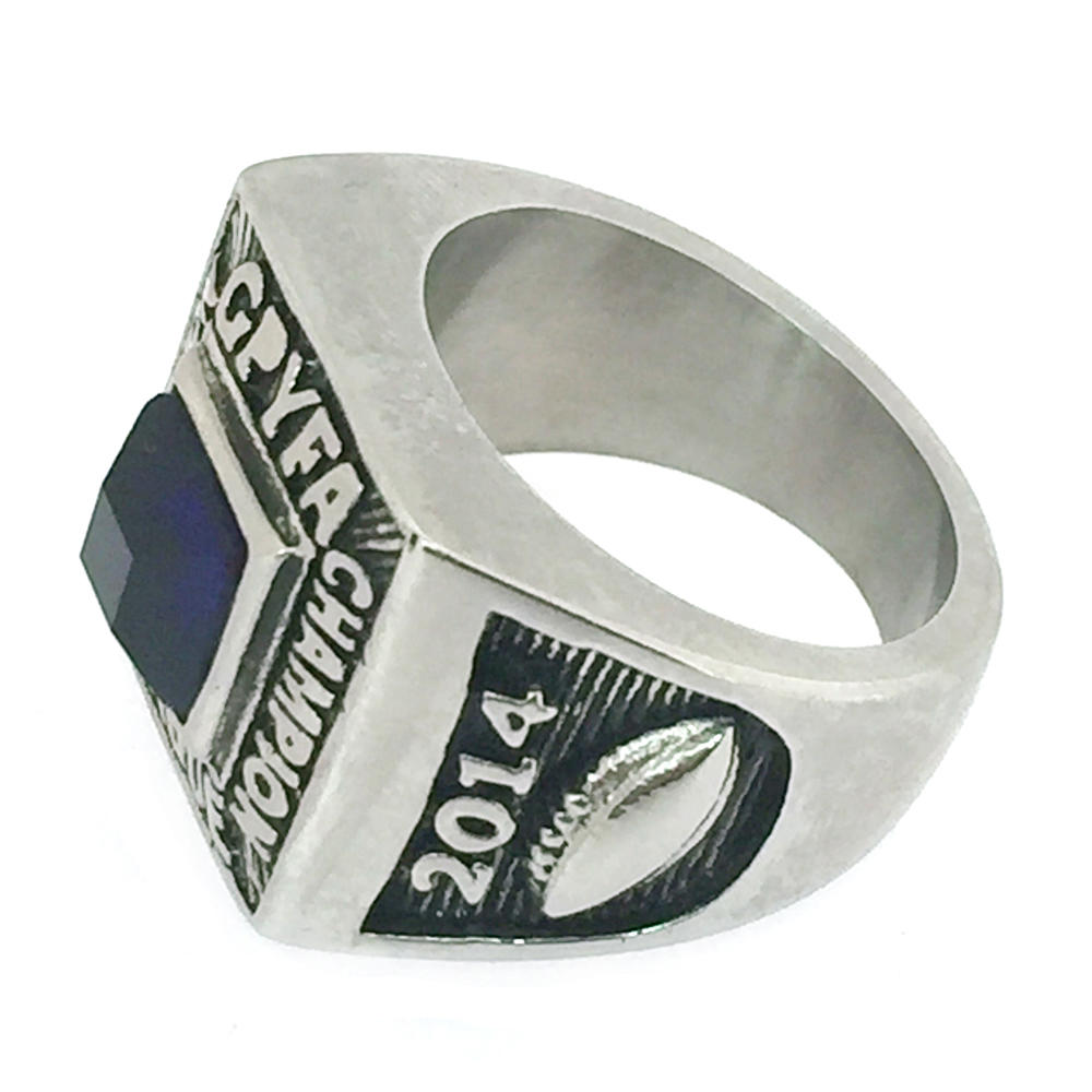 Eco-Friendly Men Ring Jewelry, Blue Stone SS925 Ring