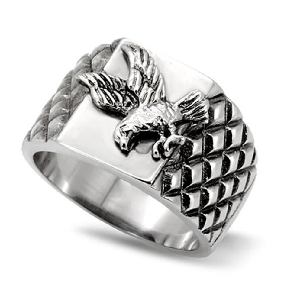 New stainless steel eagle design mens fashion ring