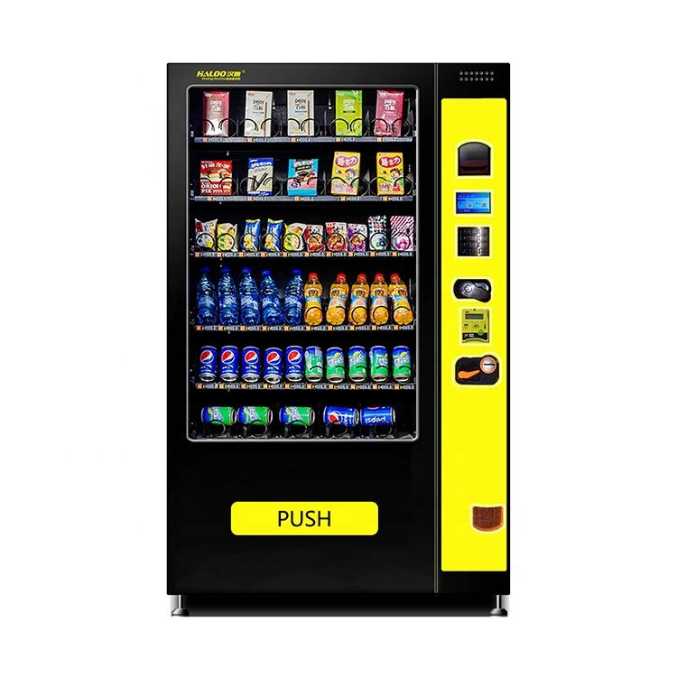 China Cheap vending machine snacks and drinks combo cans vending machine with elevator