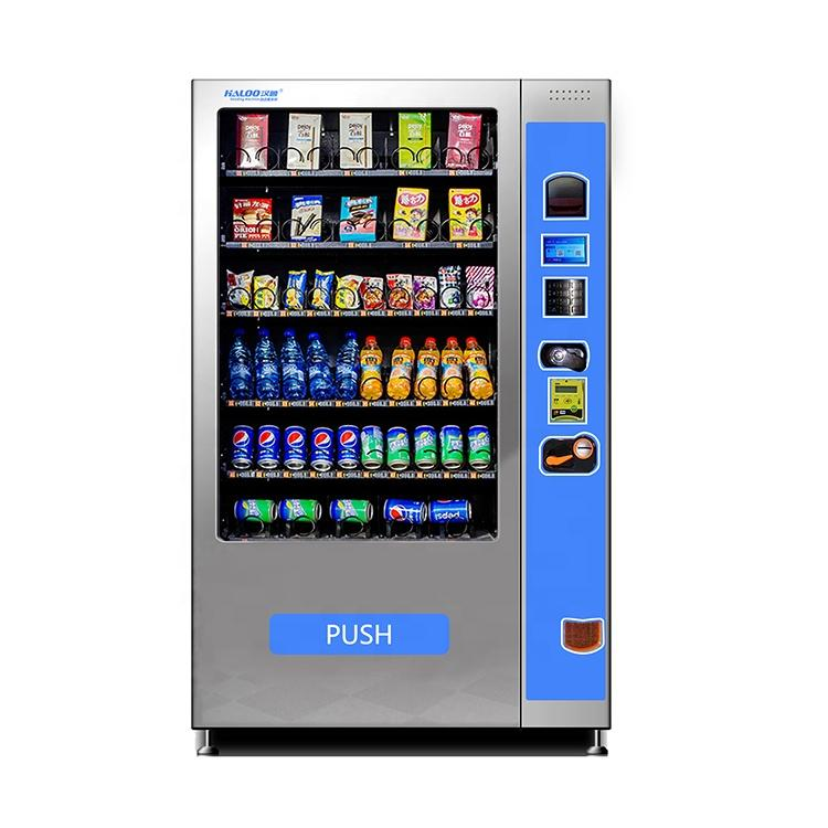 Hot Sale automat Refrigerated snacks glass bottle drinks vending machine with elevator