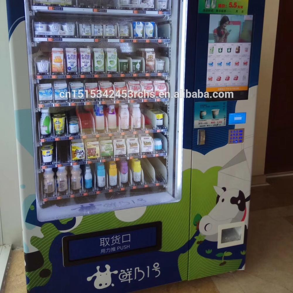 hot sale fresh milk vending machine with lift system