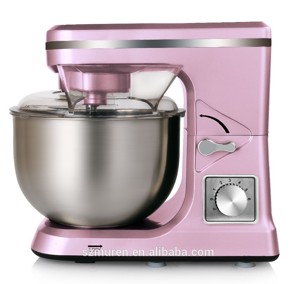 1000W 5L Stainless Steel Bowl Commercial Stand Dough Mixer