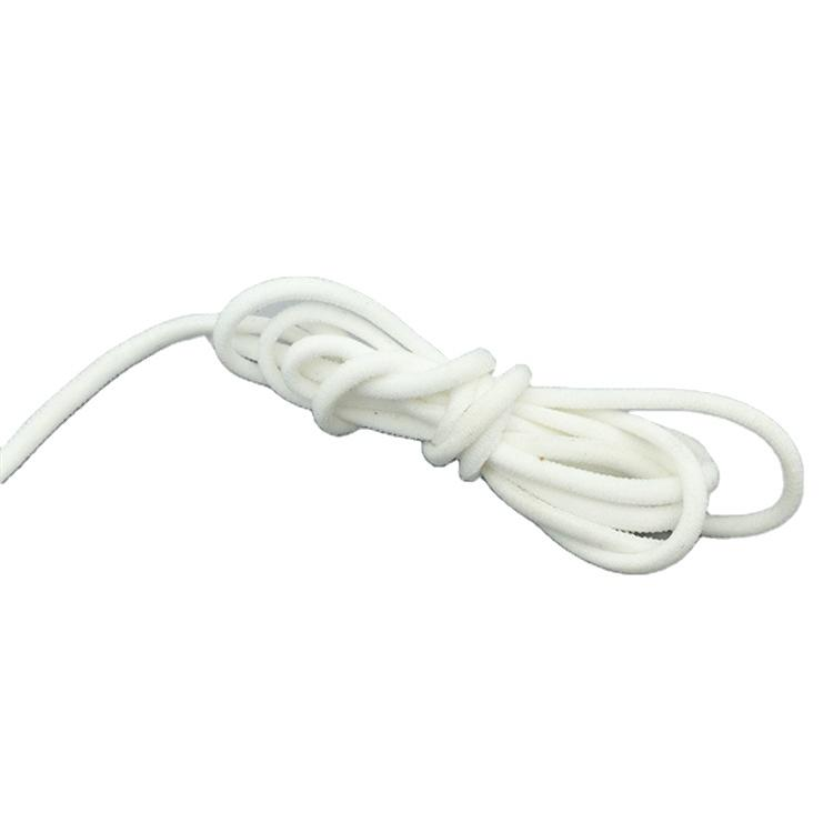 High quality white 3mm elastic ear loop for facemask