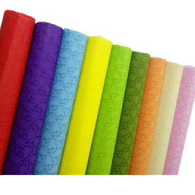 NEW design colorful Embossed 100%PP spunbond nonwoven flowers packing