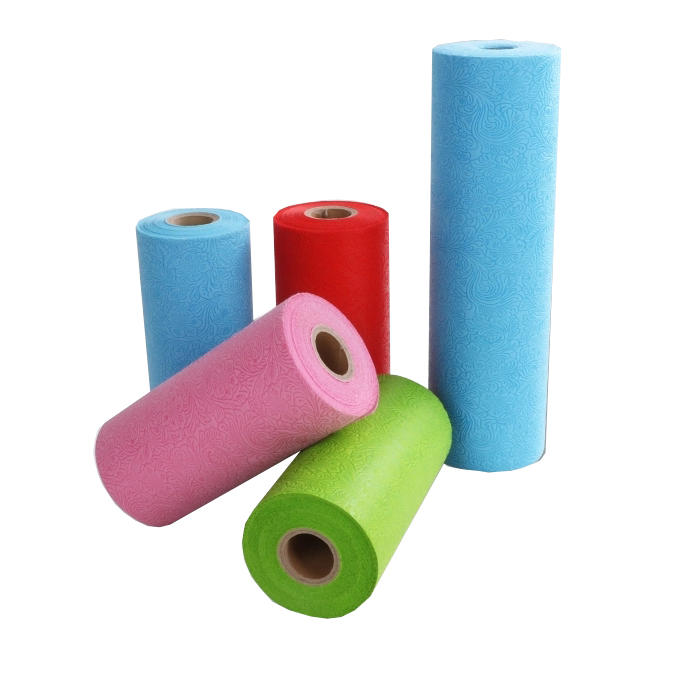 Embossed waterproof non woven spunbond polypropylene tabelcovers