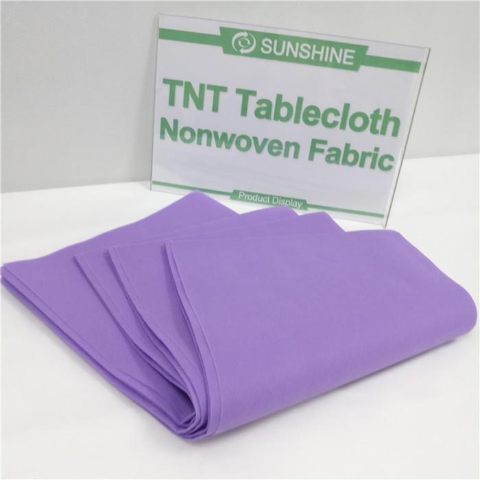 Factory price Table cloth use PP virgin spunbond non woven fabric
