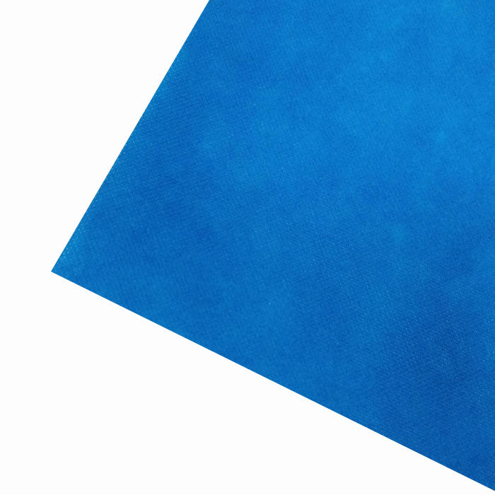 blue color 40g SMS non woven fabric medical use spunbonded nonwoven fabric roll for surgical gown