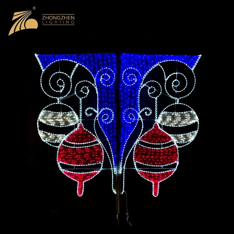Professional Custom Project Outdoor Decoration Street Pole 2D LED motif light