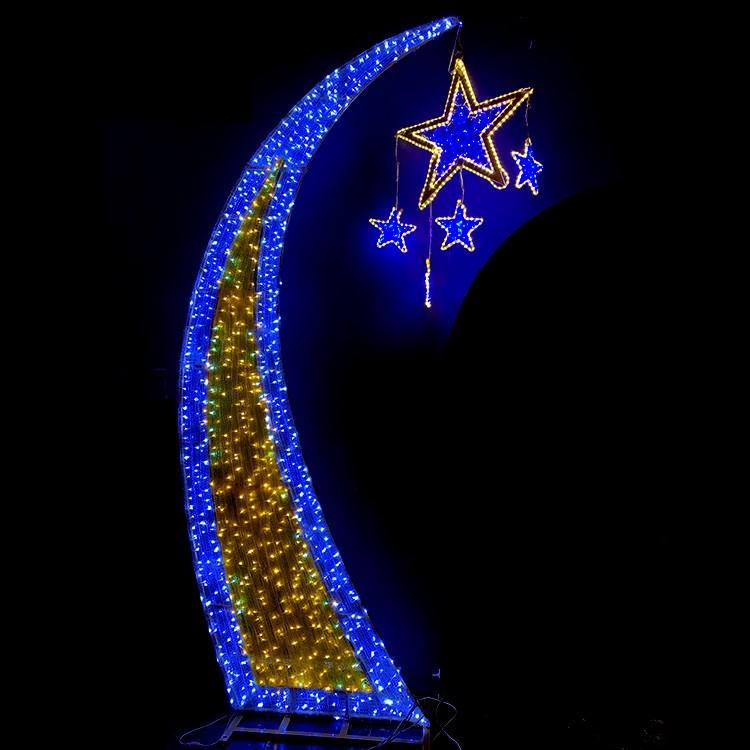 Low Power Consumption Festival Christmas Decoration Custom 2D LED Motif Light