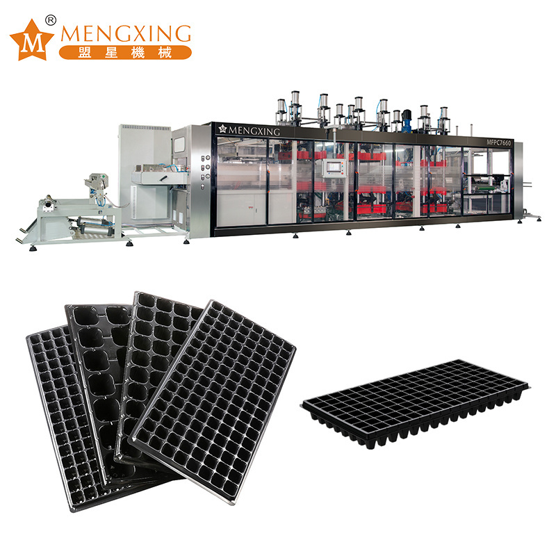 Big Forming Area Plastic Sheet Processing Machinery Cutting Function Plastic Seeds Tray Making Machine Pressure Thermoforming Machine