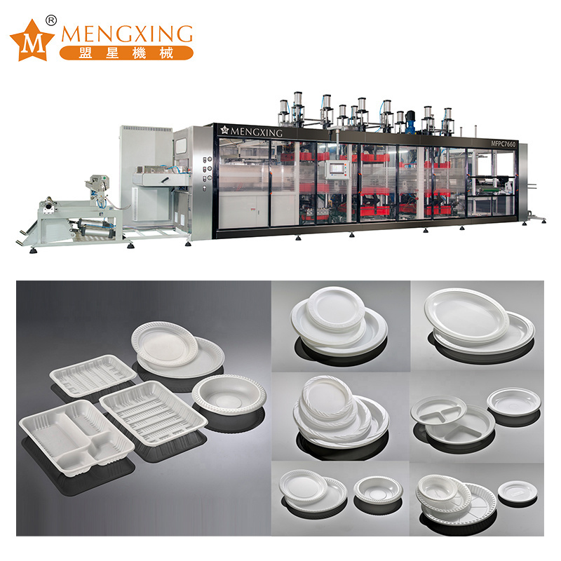 PP/PVC/Pet/PS/PSP Automatic Disposable Plate/ Tray/ Pan/ Box/ Lid/ Container Plastic Thermoforming Machine Tray Making Machine Plastic Processing Machine