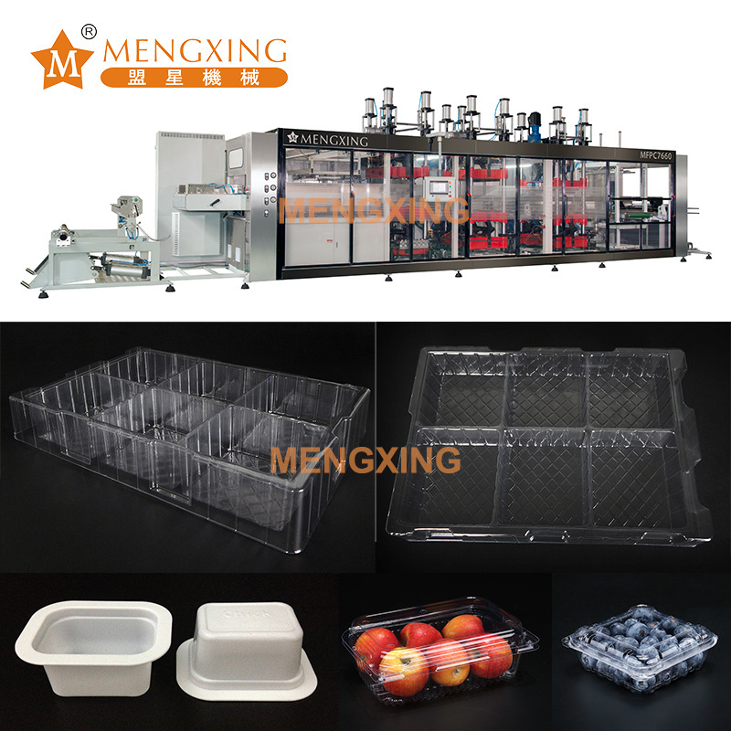 Vacuum Forming Machine Automatic Plastic Fruits Packages Box Tray Thermoforming Forming Tray Making Machine