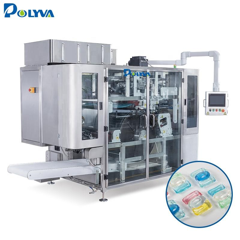 POLYVA automatic liquid pods packaging machine liquid/powder laundry detergent pods filling machine