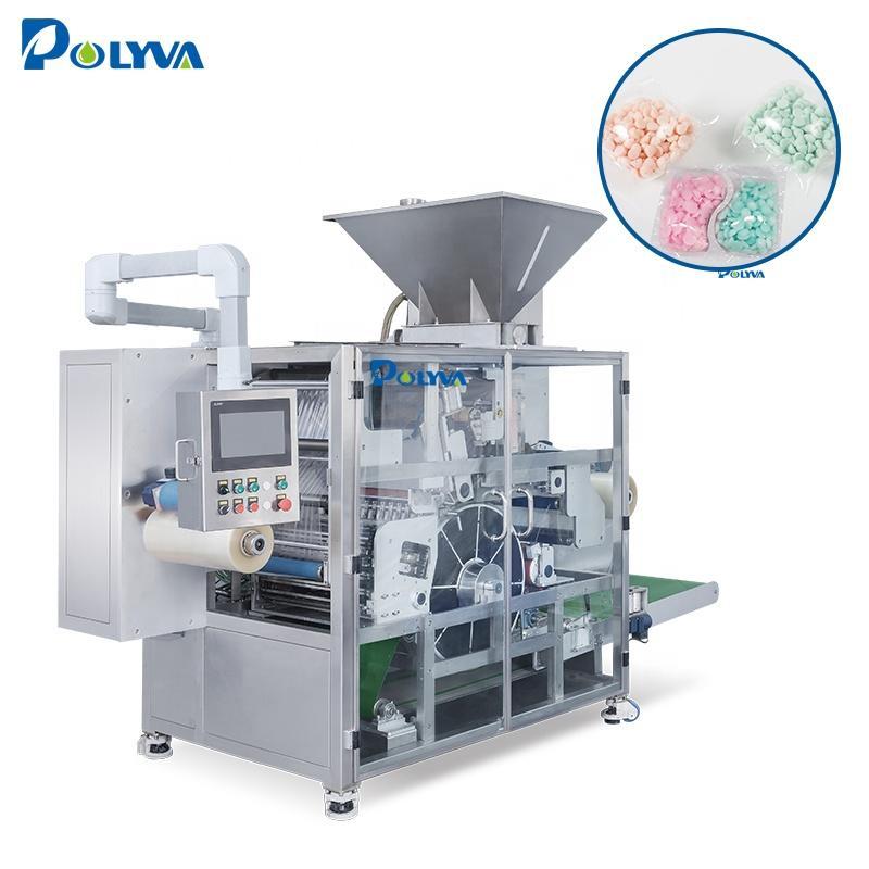 POLYVA manufacturing biodegradable plastic film pods packing machine 10g-25g laundry capsules filling machine