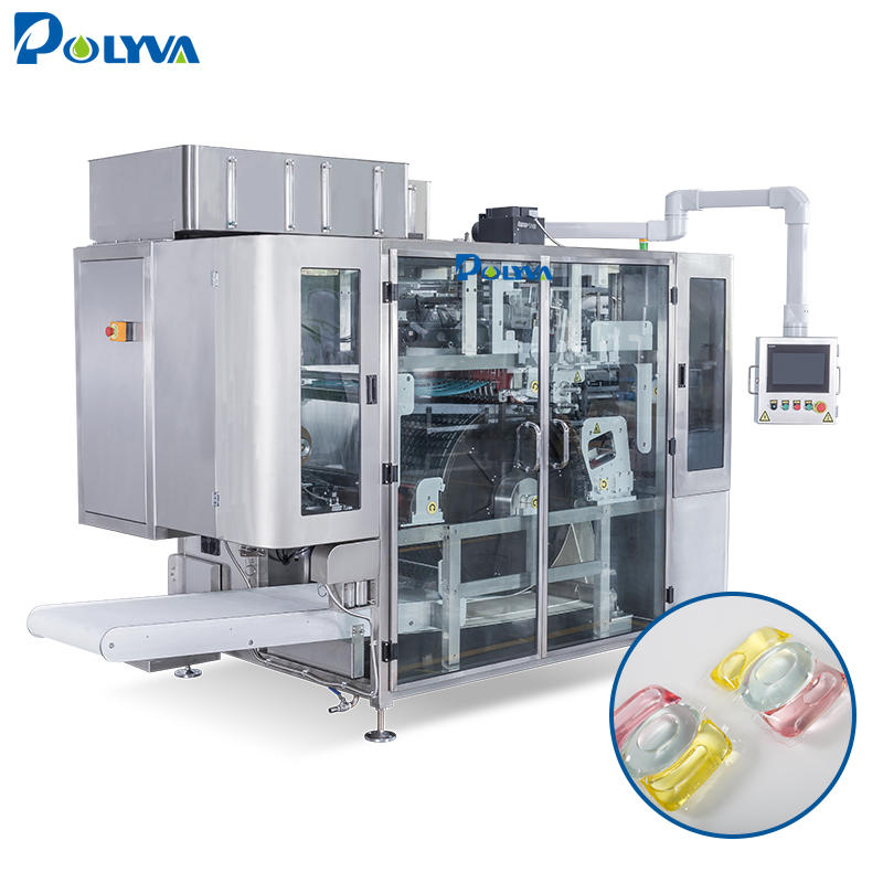 Foshan POLYVA Water Soluble Packing High Efficiency Liquid Pods Automatic Pouch Packing Machine
