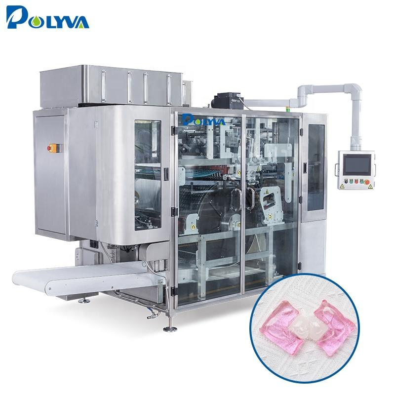 Polyva machine China economic accurate washing laundry detergent pods machine liquid pods detergent production machine