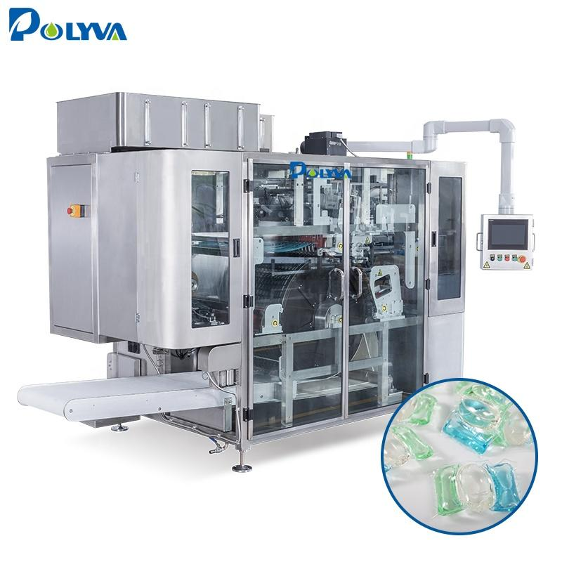 Polyva water soluble film packaging filling machine laundry pod filling machine