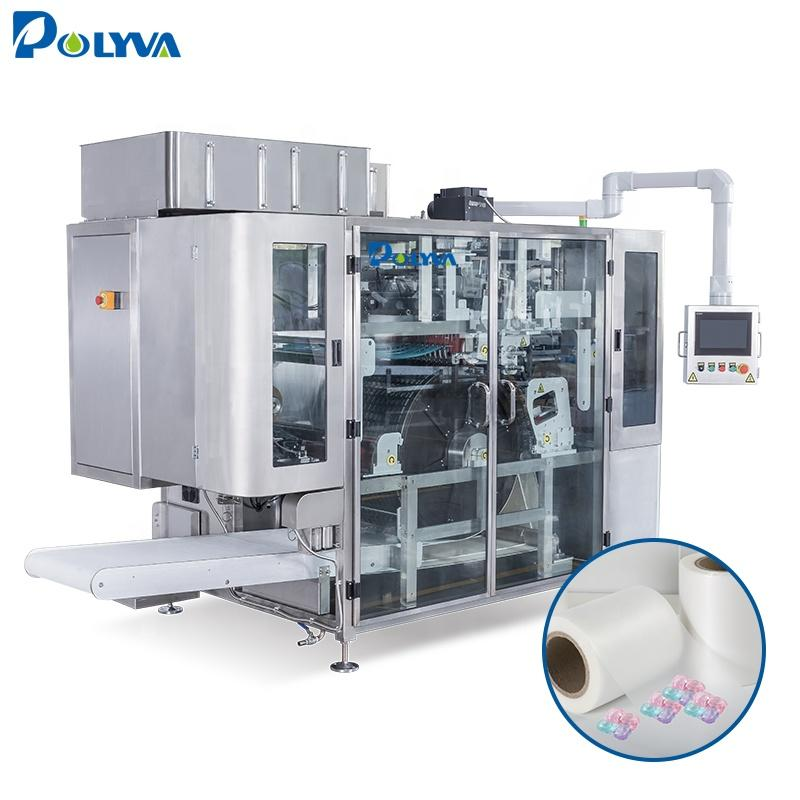 POLYVA high speed automatic liquid laundry capsules/pods machine liquid pods filling machines