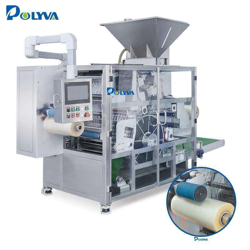 unit-dose water soluble pouch laundry pods dishwasher pods automatic cleaning capsules packaging machine