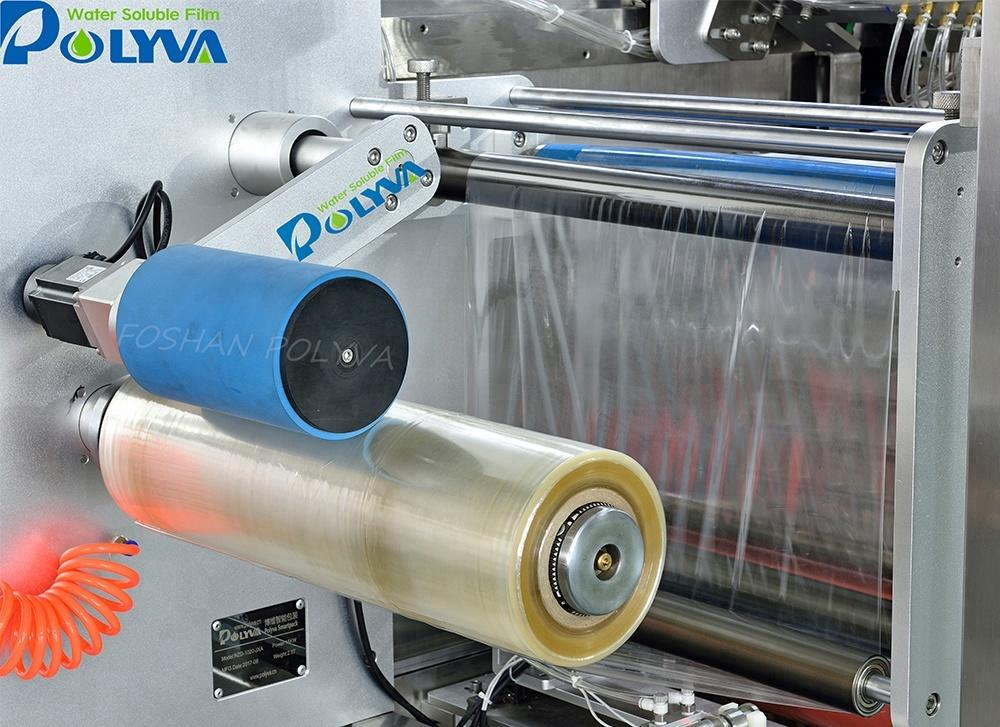 PVA water soluble film laundry capsules filling machine detergent pod packing machine