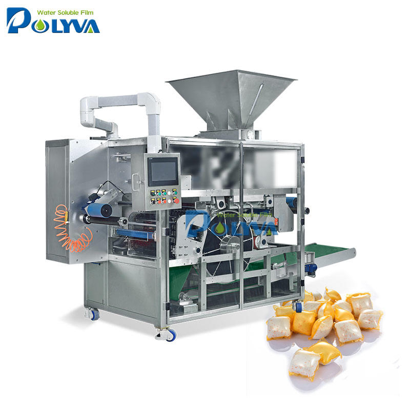 water soluble pouch cleaning powder pods packing machine with water soluble pva film