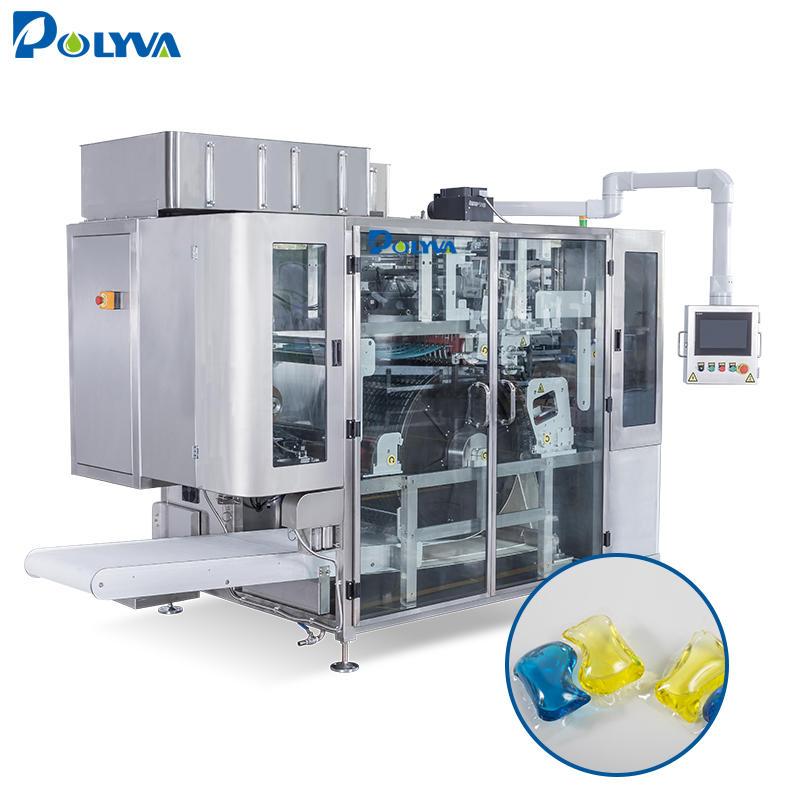 Automatic water dissolving plastic film liquid detergent pods automatic liquid packaging machine