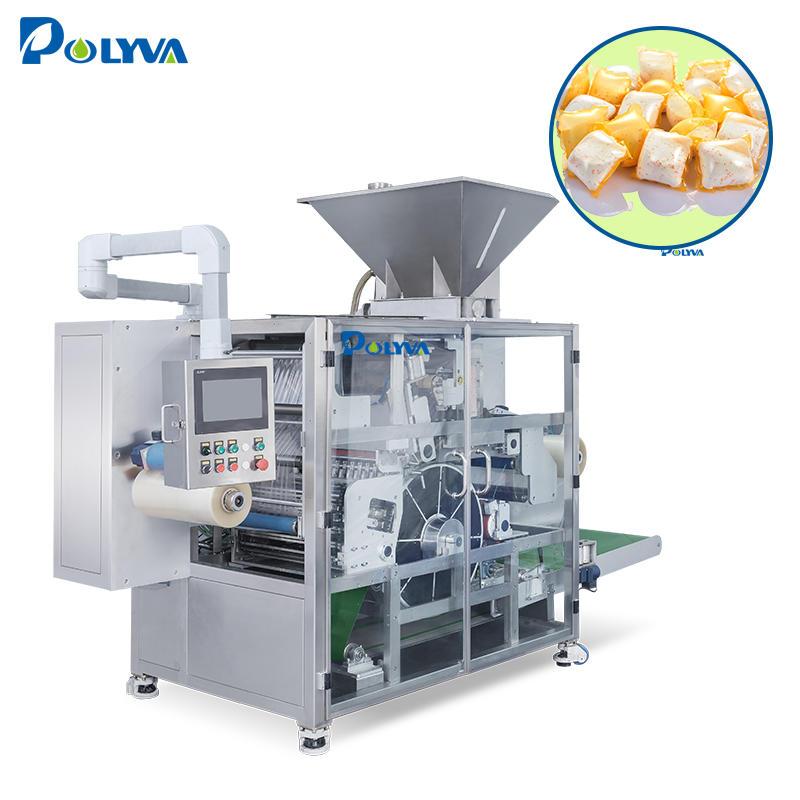 Polyva machine dishwasher detergent powder capsule filling packaging machine empty capsule machine