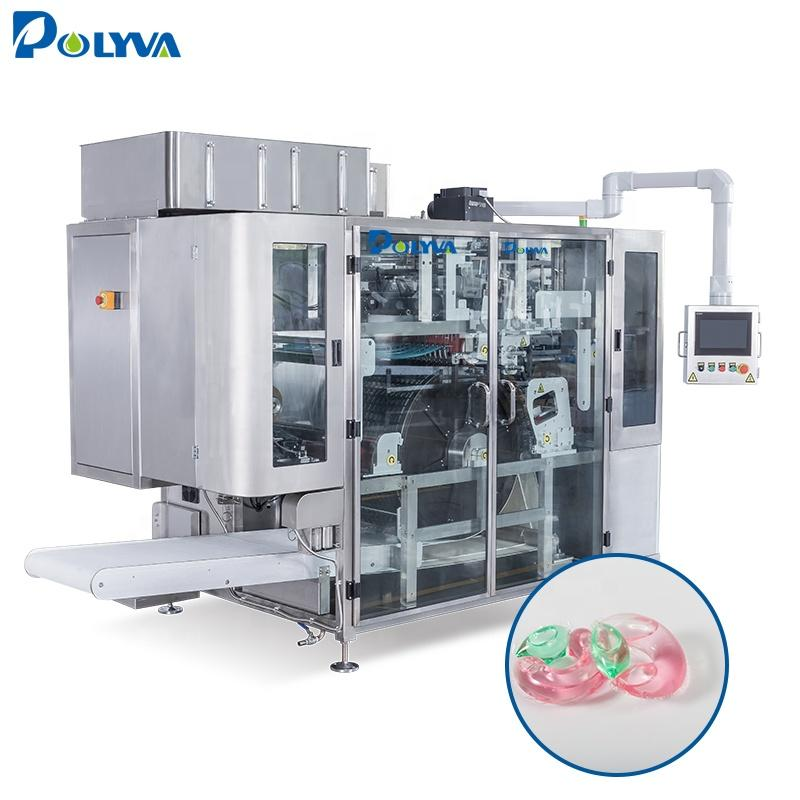 China high speed pva water soluble dishwasher laundry detergent pods cleaning capsules filling packing machine