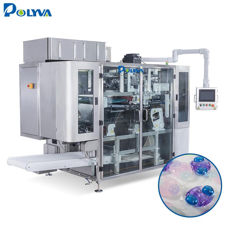 POLYVA automatic liquid packaging machine washing laundry detergent pods packing machine liquid capsules/pods filling machine