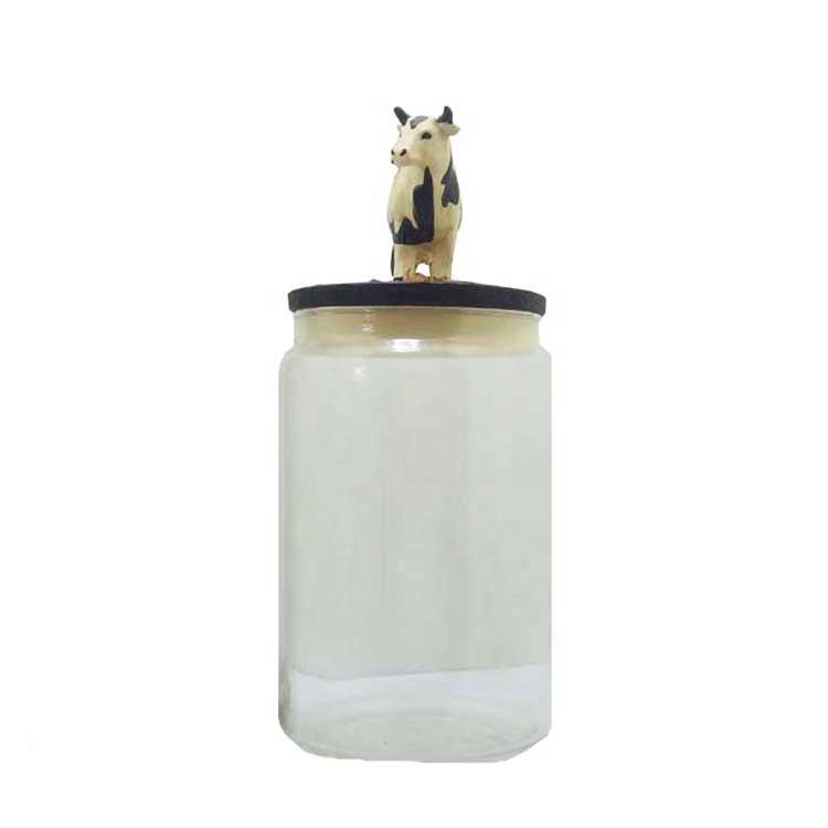 Cow candy jar pet bottle environmentally friendly transparent food can jar