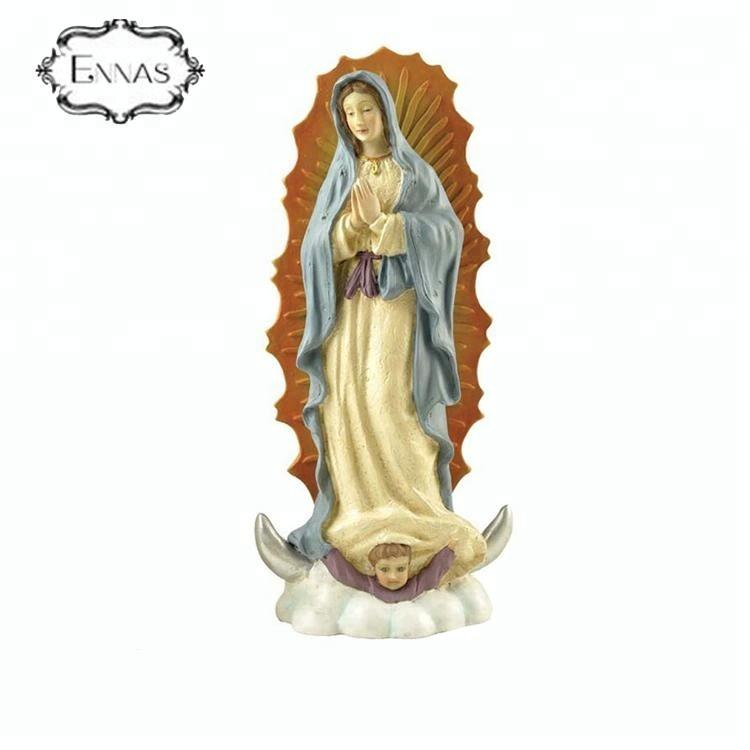 Antique Catholic items Our Lady of Guadalupe resin religious statues for sale