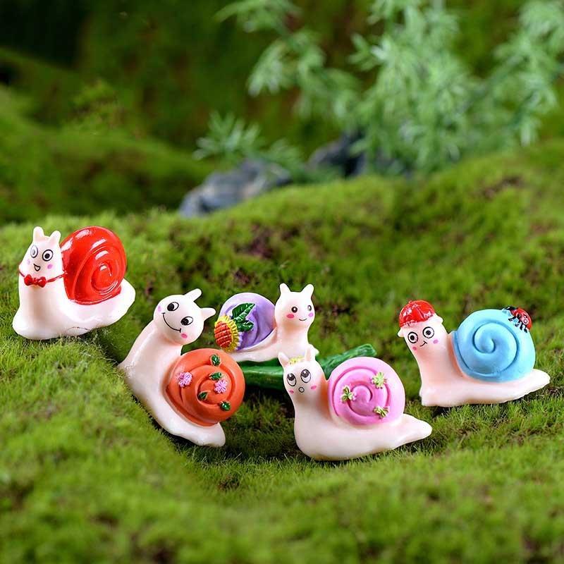 Garden snail micro-landscape resin handicraft small ornaments small animals