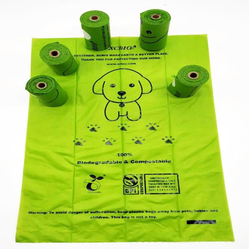 15pcs ready shipping eco- friendly cornstarch reusable pet waste dog poop bag