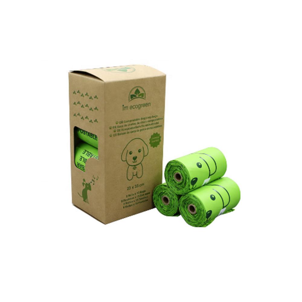 Amazon hot selling 100% Biodegradable Compostable cornstarch Pet Poop Bag