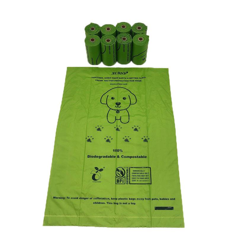 biodegradable dog poop corn bags pet dog waste bag plastic doggy bag with dispenser