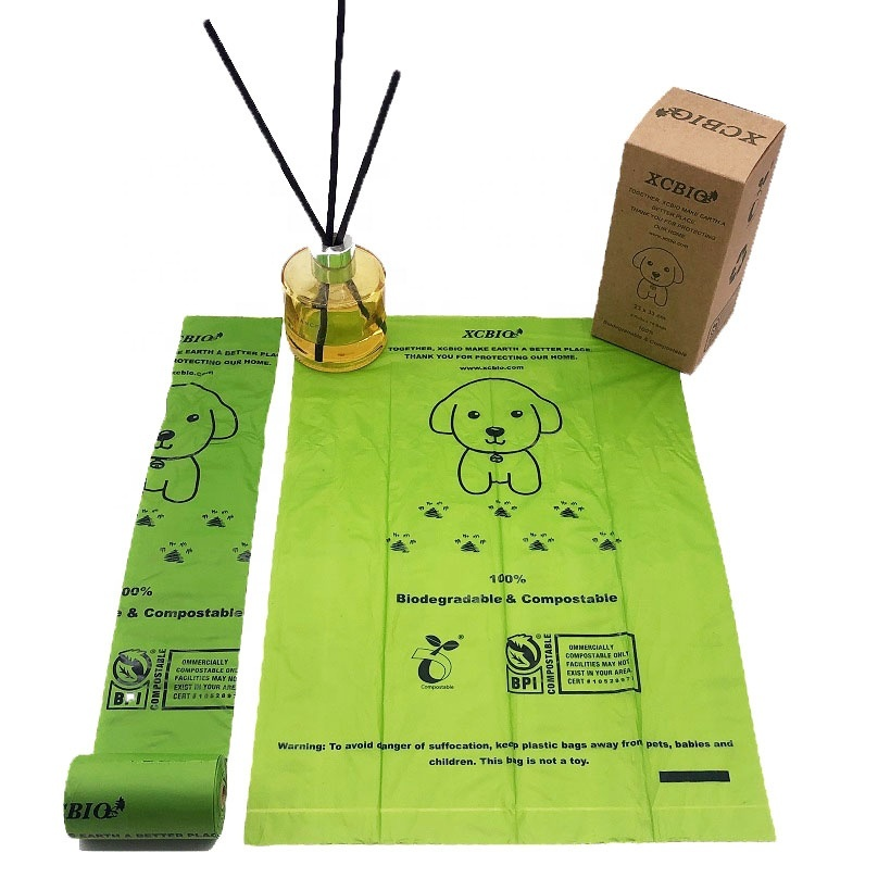 dog poop corn bags biodegradable pet dog waste bag with dispenser