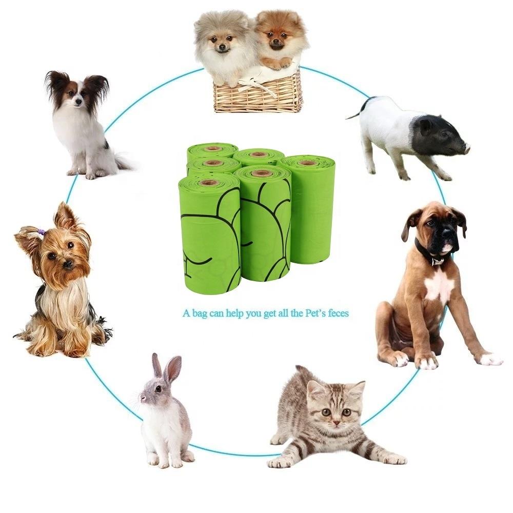PLA PBAT Fully Compostable Disposable Poo Bag Customized Biodegradable Pet Corn Starch Dog Poop Bag