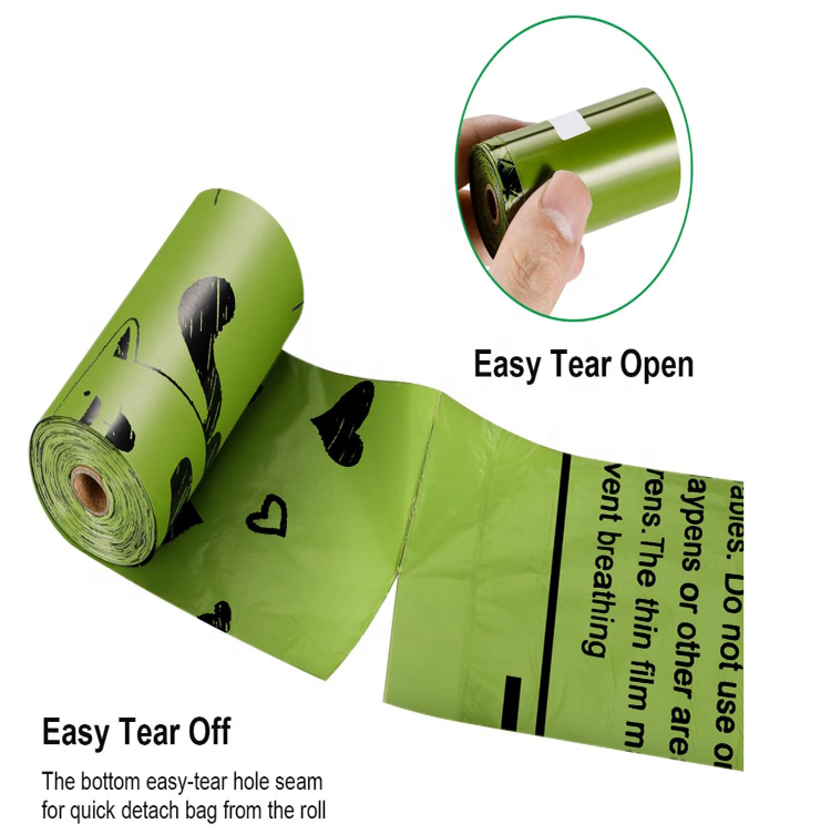 Pet Poop Bags Dispensers - 160 Counts Biodegradable Large Doggy Waste Bags Unscented Refill Rolls