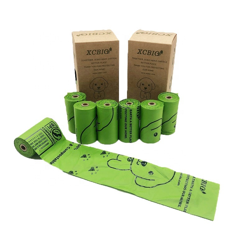 ECO friendly pet clean product Pet clean product custom compostable corn starch dog poop bags dog poop bag