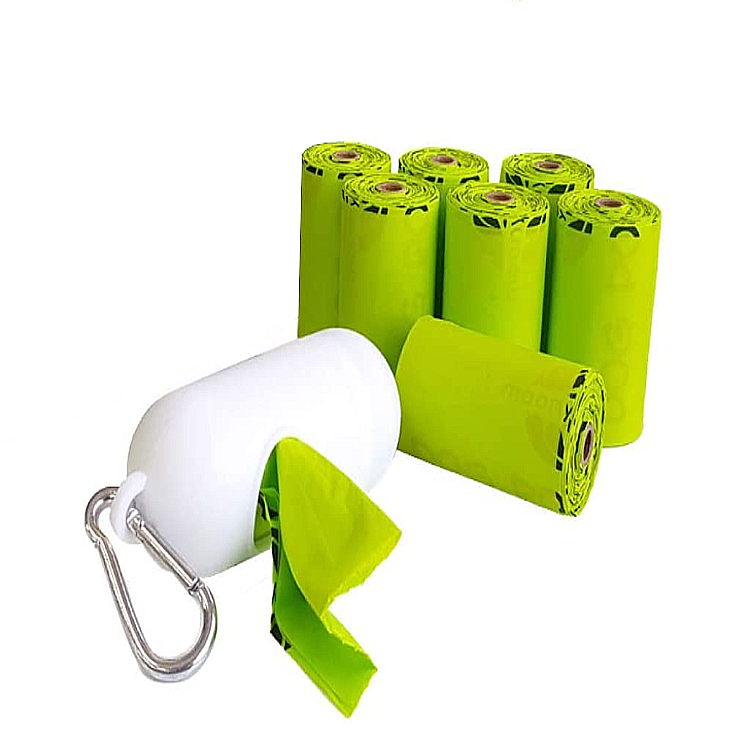 Amazon hot selling Eco friendly 100% Biodegradable Compostable Pet Dog Poop Bag Dog Waste Bags