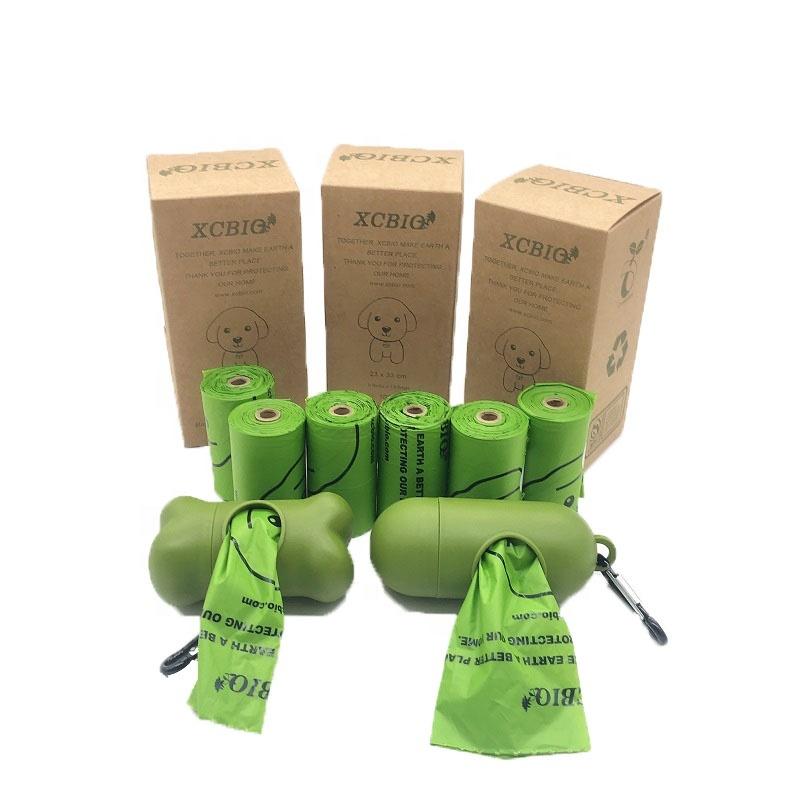 Eco Friendly Corn starch biodegradable pet waste bag PLA dog poop bag custom logo