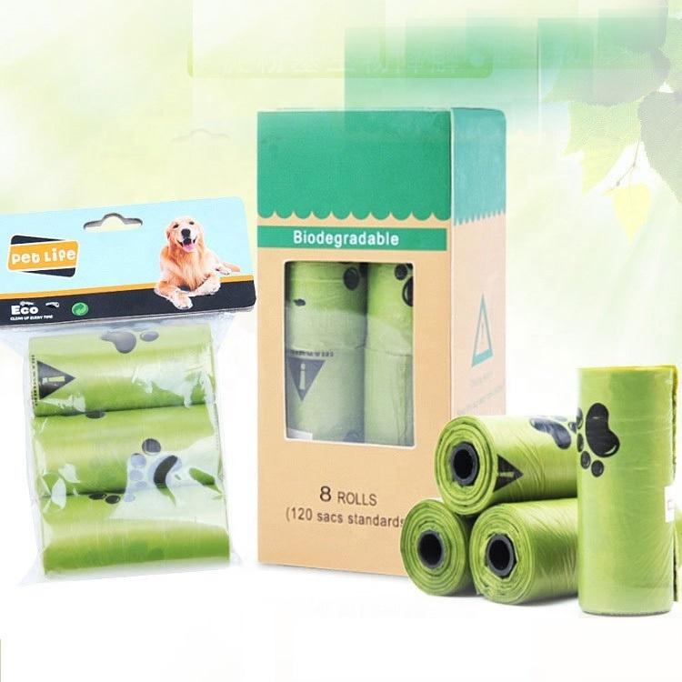 en13432 eco friendly compostable biodegradable dog poop bags custom printed