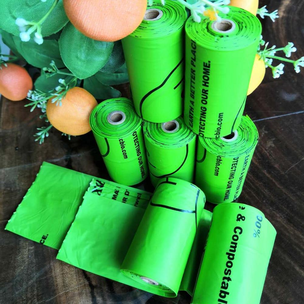 High Quality custom printing corn starch biodegradable compostable dog poop bag eco-friendly pet waste bag