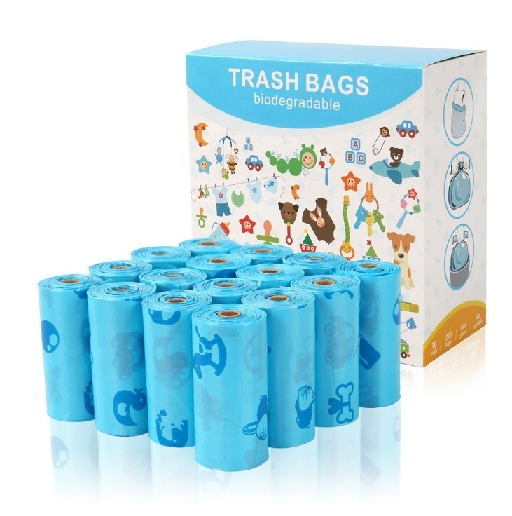 custom printed biodegradable plastic pet dog waste bags for ready shipping