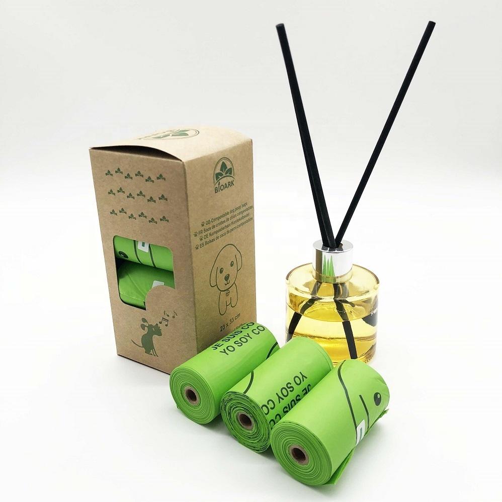 Amazon hot selling Eco friendly 100% Biodegradable Compostable Pet Dog Poop Bag mini garbage bag